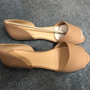 NEW Nine West Open Leather Flats
